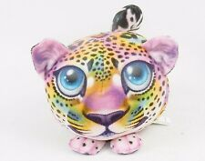 Fur Balls Rainbow Leopard ~ Cute Cuddly Round Plush Pets, 3D Graphics, Style #8