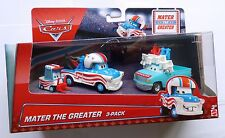 Disney Pixar Cars MATER THE 3-Pack Raro sobre GREATER 100 Cars Reino Unido!!!