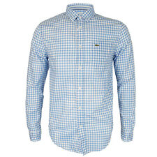 Lacoste - CH7578 Blue/White Check Shirt - Size 43/L-XL - *NEW W/ TAGS* RRP £99
