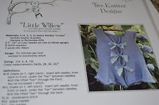 Tree Knitter Knitting Pattern Little Willow Girl sweater top down one piece 2-10
