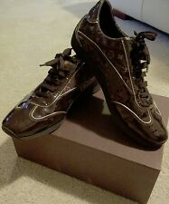 Genuine Louis Vuitton Woman Leather Sneaker designer shoes preloved