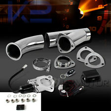 "3"" Electric Exhaust Downpipe Cutout E-Cut Out Valve System Kit+Remote"