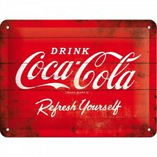 Blechschild 15 x 20 cm - Coca Cola - Red Logo