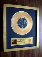 "THE BEATLES YESTERDAY 24KT GOLD DISC 7"" SINGLE RECORD AWARD"