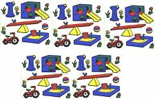 Frances Meyer Children PLAYGROUND Sand box See Saw Scrapbook Stickers 5 Sheets!