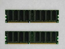 2GB 2X1GB DDR PC3200 2GB PC3200 400 LOW DENSITY DESKTOP MEMORY RAM **Tested