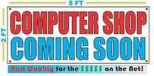 COMPUTER SHOP COMING SOON Banner Sign NEW Larger Size Best Quality for the $$$