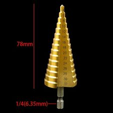 New HSS Hex Titanium Coated Step Cone Drill Bit Hole Metal Cutter Tool 4-32mm