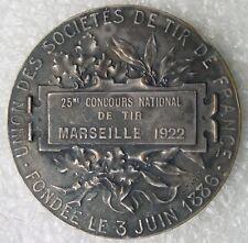 MEDAILLE 1922 MARSEILLE  25e concours national de TIR