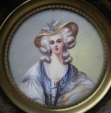MINIATURE PORTRAIT DE Madame  ELISABETH / ELISABETH DE FRANCE PEINTURE