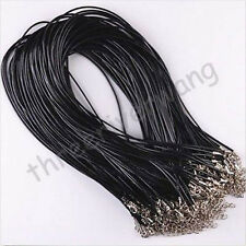 10Pcs Adjustable Leather Chains Necklace Charms Finding String Cord 1.5mm