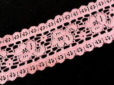 Dark Peach Fabric Lace trim...1 1/2 Inch Wide...65 inches long