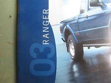 Mint  2003 FORD RANGER I BROCHURE 03