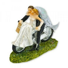 Bride & Groom on Bike Large Resin Wedding Cake Topper Decoration