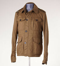 NWT $895 BURBERRY BRIT 'Mountbatton' Military Khaki Field Jacket L Wool Lining
