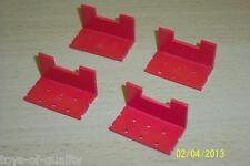 Post Guerra Bayko edificio conjunto de piezas. 4x piezas rectas Torreta