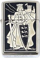 King Richard the Lionheart Damascene Zippo Lighter by Marto Toledo Spain 840-003
