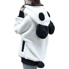 Warm Fleece Animal Cute Panda Cartoon Hoodie With Ears Hooded Hoody Coat Jacket
