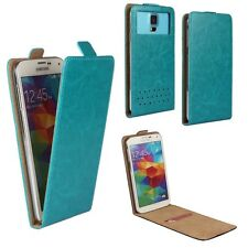 Tecno Phantom 6 Plus-Flip Cellulare Cover Case-FLP Turchese XL