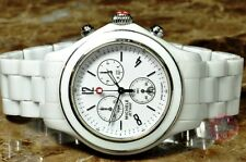 Michele Jetway Chronograph White Ceramic Model MWW17B000002 Box Papers Card