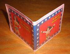 WONDER WOMAN ARGENTINA party favor VINTAGE plastic Wallet toy DC Comics variant