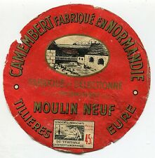 FROMAGE CAMEMBERT FROMAGERIE DU MOULIN NEUF  TILLIERES EURE