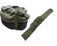 Grandi Carpa Luccio Pesca CARRYALL TACKLE BAG + 3 +3 Rod ZAINETTO BAG 12 / 13ft BACCHETTE