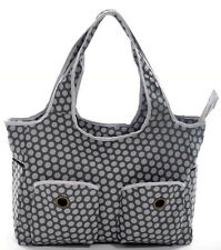 New Baby Diaper Bag Nappy Bag fashion grey dots very large + nappy mat #D27