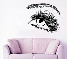 Wall Decal Girl Vinyl Sticker Eye Decal Make Up Decals Beauty Salon Decor KY133