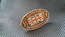 A cool new coloured enamel Barbour GB  international pin badge