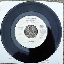 """Eddie Rabbitt w/ Crystal Gayle  """"You and I"""" / """"You Can't Run From Love"""" 7"""" 45"""