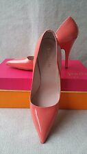 Kate Spade New York 6.5 Licorice Too Pump Coral Salmon Red Patent Leather Heel