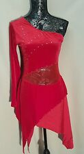 The Competitor - Ladies Medium Adult MA Dance Solo Outfit / Costume Red Velvet