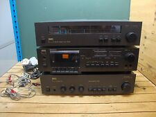 NAD Stereo Tuner 4020A Cassette Deck 6040 Amplifier 3020 Separates UNTESTED