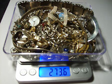 sterling silver scrap lot, .925 watch, earrings, chains, braclets,vintage,wear