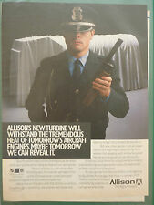 1/1988 PUB ALLISON GM DEFENSE NEW TURBINE LAMILLOY MATERIAL POLICEMAN POLICE AD