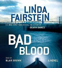 BAD BLOOD by LINDA FAIRSTEIN - GREAT AUDIO BOOK ON CDW/ FREE SHIPPING