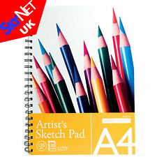 A4 SPIRAL BOUND ARTIST SKETCH DRAWING BOOKS PADS 30 SHEETS 135GSM QUALITY