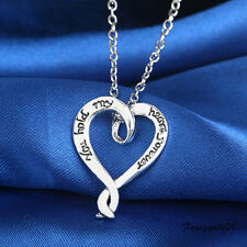 "Fashion ""You Hold My Heart Forever""Engraved Pendat Necklace Girl Friend Love Top"