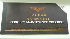Complete Jaguar E Type periodic maintenance voucher book (all vouchers present!)