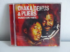 CD ALBUM CHAKA DEMUS & PLIERS Murder she wrote 544392 2