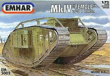EMHAR 5002 - MkIV 'Female' WW1 Tank                   1:72 Plastic Kit/Wargaming