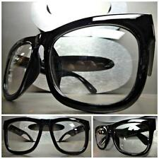 Men or Women CLASSIC VINTAGE NERD Style Clear Lens EYE GLASSES Thick Black Frame