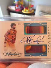 2015-16 Flawless Kevin Love Sapphire Dual 2 Color GU Dual Patch Auto 7/10 Cavs
