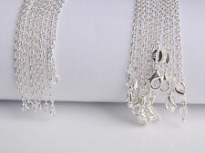10PCS Wholesale 18inch jewelry Lot 60% Silver Rolo Chain Necklace For Pendant