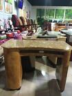 CHESTNUT CHERRY MARBLE TOP HIGH END BEAUTY SALON/SPA NAIL MANICURE TABLE