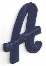 """SCRIPT LETTERS -  Navy Blue Script  2"""" Letter """"A"""" - Iron On Embroidered Applique"""