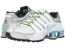 Nike Women's Shox NZ Running Shoe Sz 7.5 Metallic Sil/White/Blue Originally $125