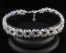 Nuevo Cristal AB Estrella Pulsera de Plata Hecho Con Swarovski Elements. Regalo Envuelto