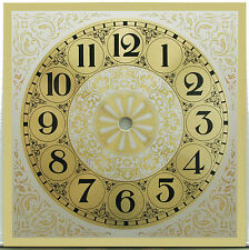 "New 7-1/4"" Square Gold Metal Clock Face - Dial with 6"" time track, #7300"